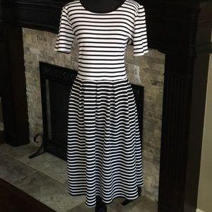 Black/ White Contrasting Stripes Amelia